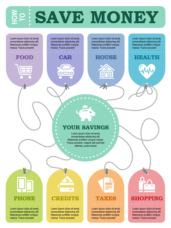 Financial infographics poster
