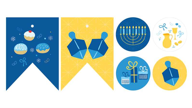Hanukkah party printables