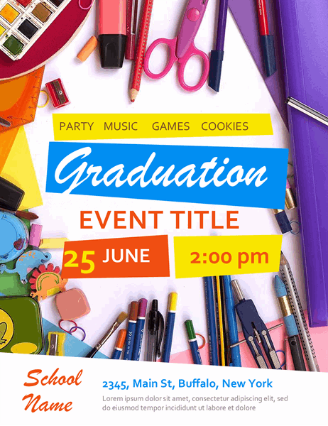 Elementary school graduation flyer