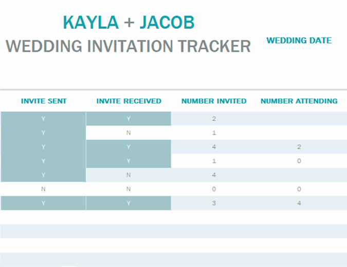Water color wash invitation tracker