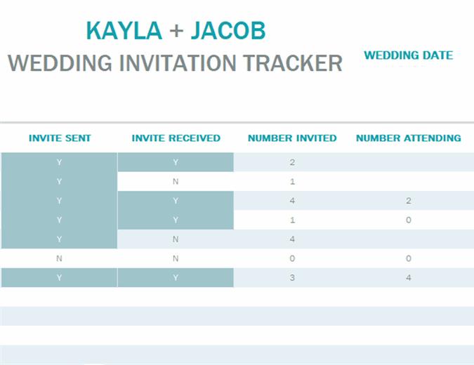 Water color wash invitation tracker