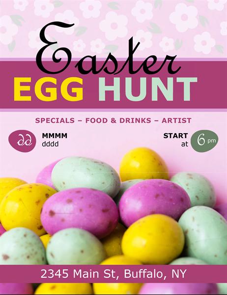 Easter eggs hunt flyer