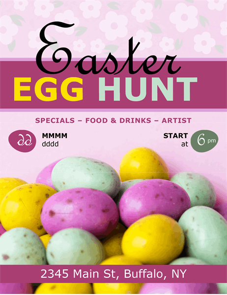 Easter eggs hunt flyer