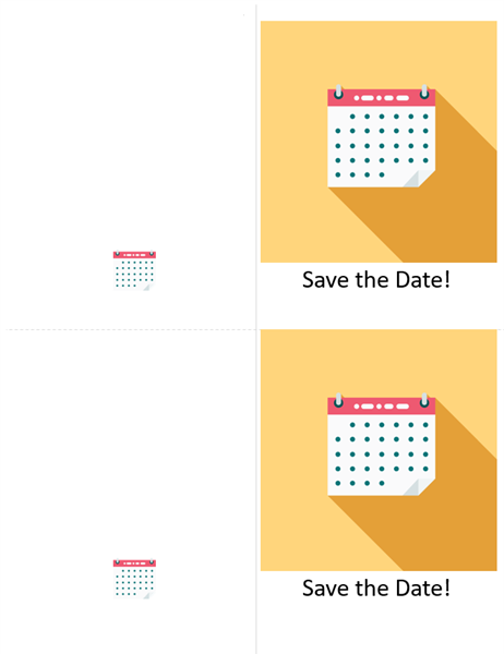 Save the date celebration card