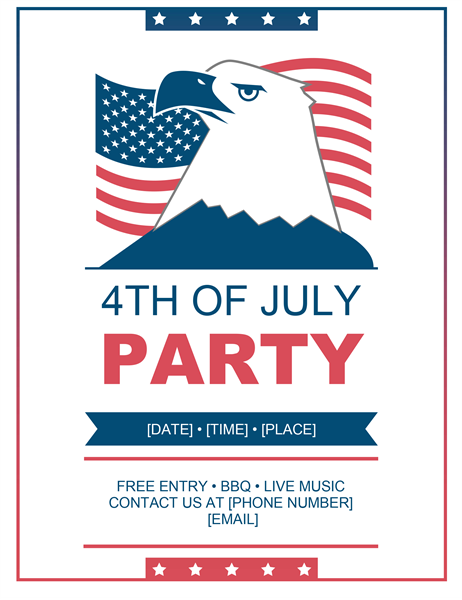 Eagle and flag Fourth of July flyer