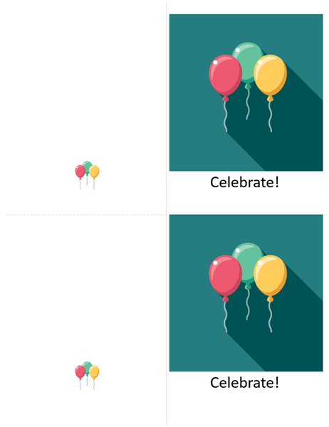 Balloon celebration card