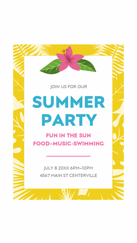 Summer invitations