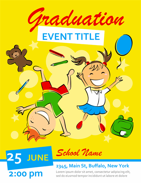 Elementary graduation flyer