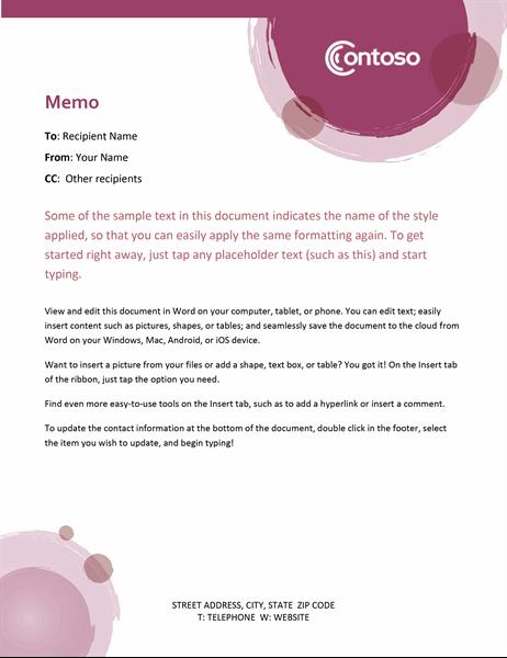 Rose suite memo