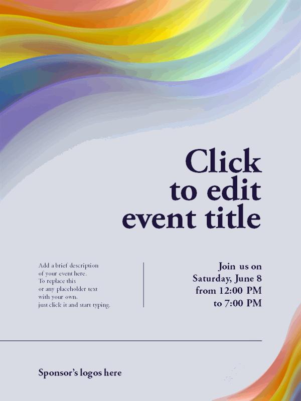 Pride rainbow flyer