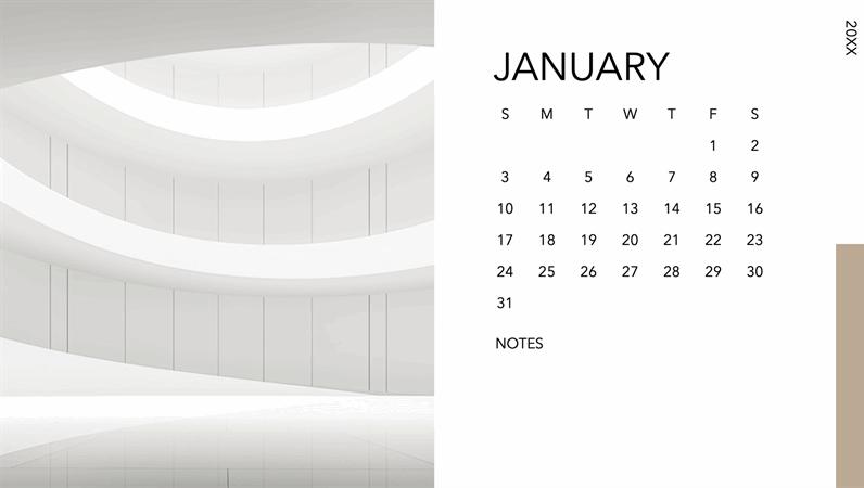 Architecture photo calendar