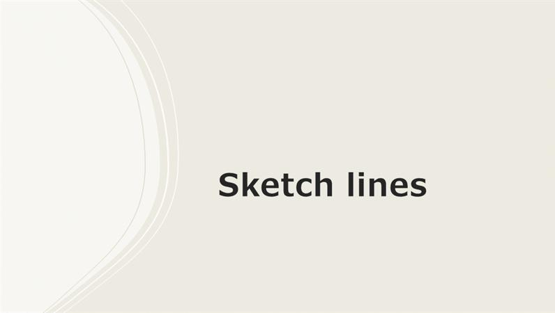 Sketch lines