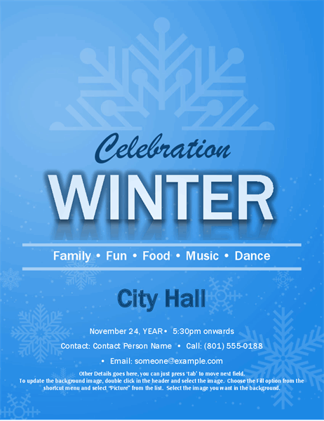 Snowflake event flyer