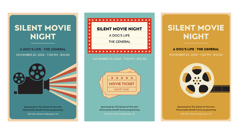 Movie night posters
