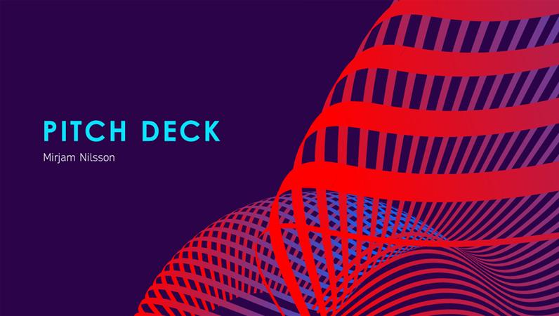Futuristic pitch deck