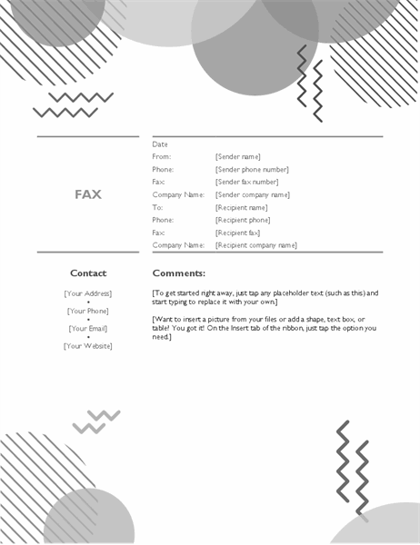 Eighties fax cover B&W