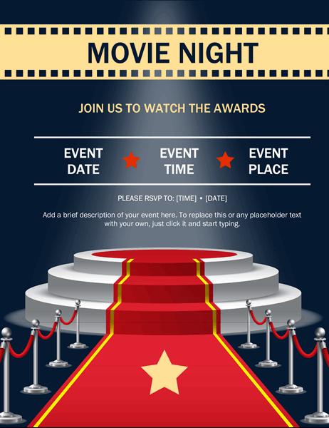 Award show event flyer