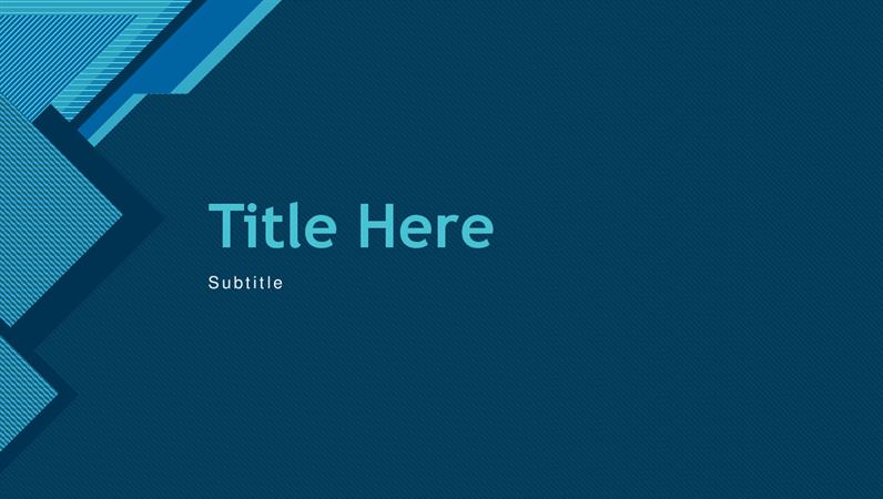 Modern blue presentation
