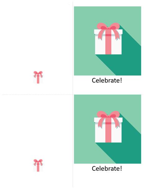 Present celebration card