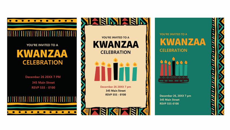 Kwanzaa invitations