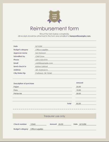 Employee Reimbursement Form Template from binaries.templates.cdn.office.net
