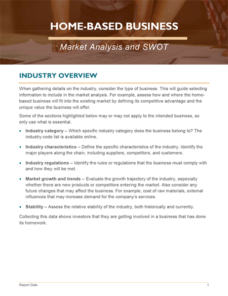 Home business market analysis and SWOT