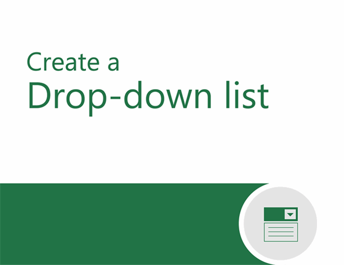 Drop-down tutorial
