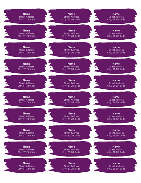 Brushstroke labels (30 per page)