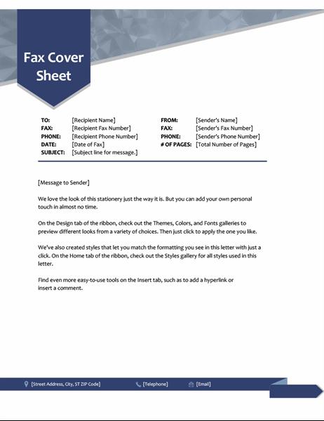Arrow fax cover
