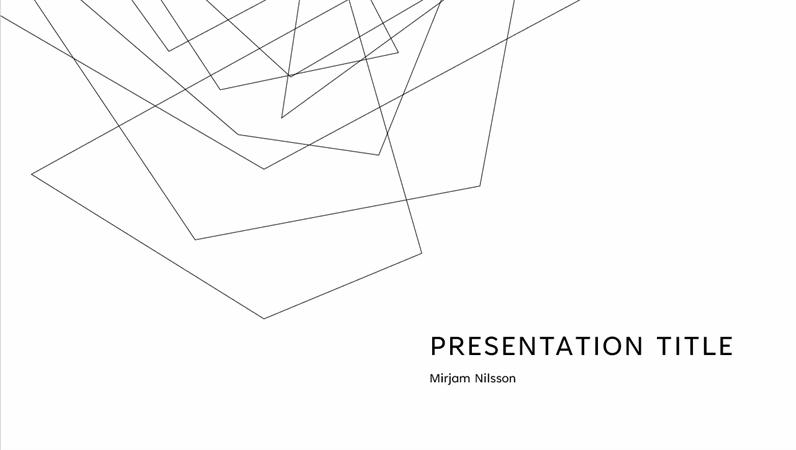Minimalist presentation