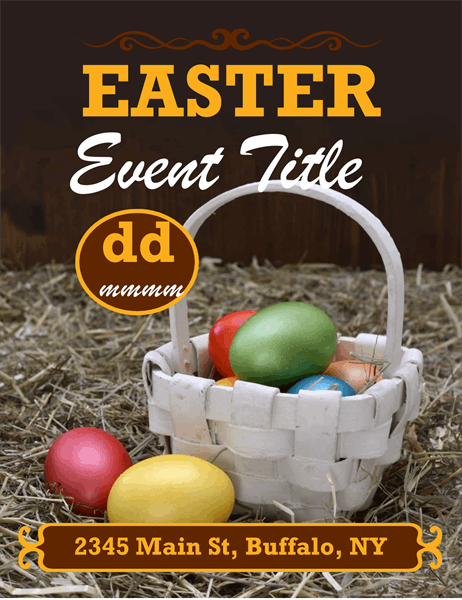Easter basket flyer