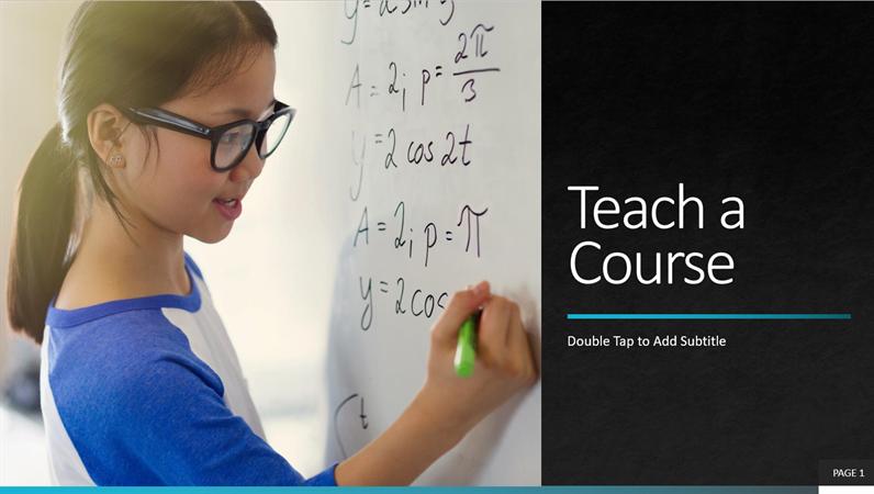 Corporate teach a course