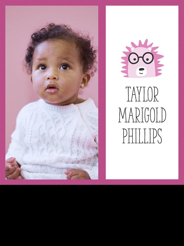 Baby photo collage album