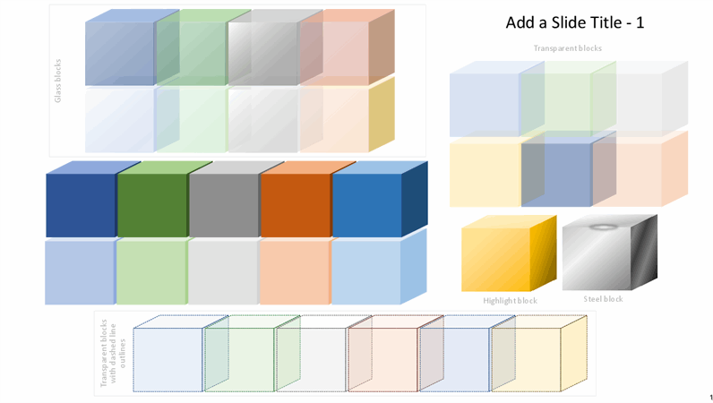 Colored block graphics