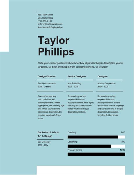 Clean elegant resume