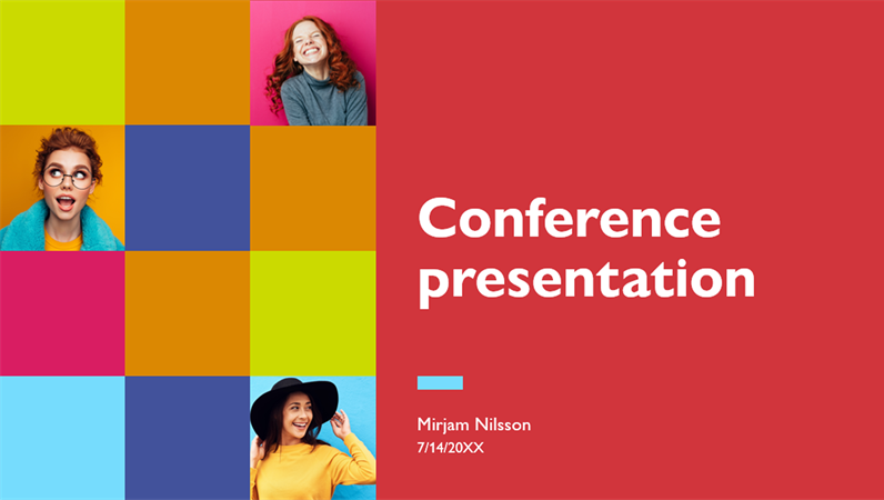 Colorful conference presentation