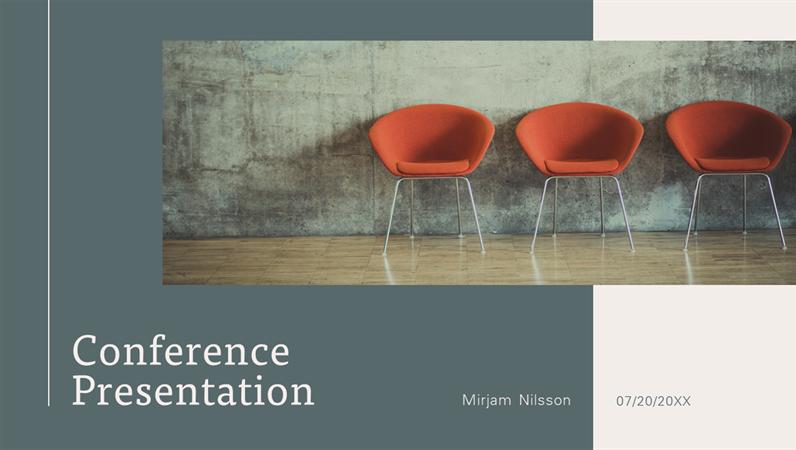 Modern conference presentation