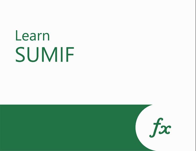 SUMIF tutorial