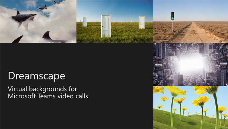Dreamscape virtual Teams backgrounds