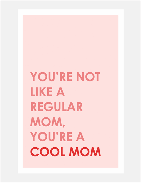 Cool mom Mother's Day card