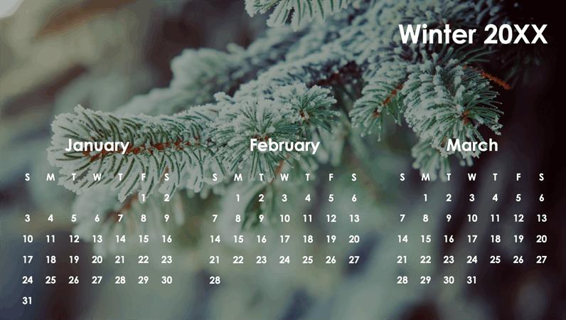 Seasons quarterly calendar