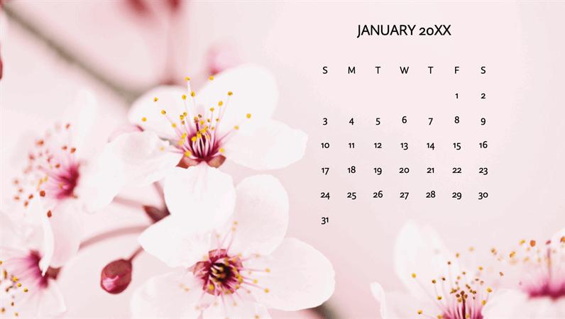 Floral photo calendar