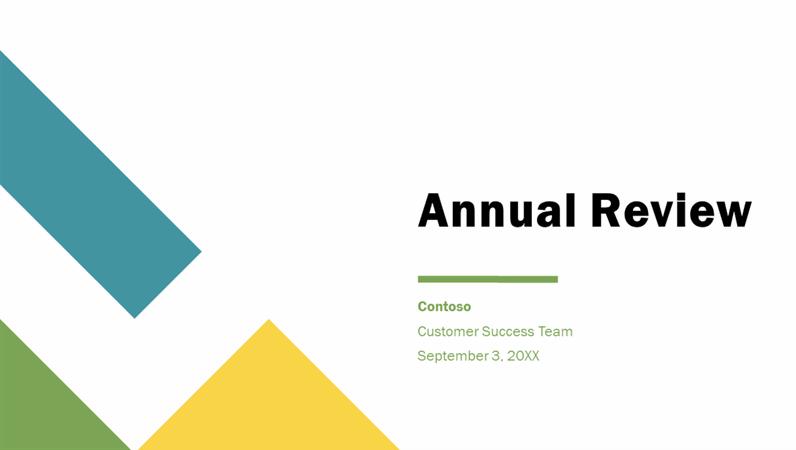 Geometric annual presentation
