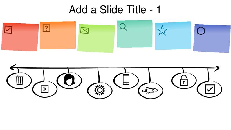 Sticky note graphic timeline