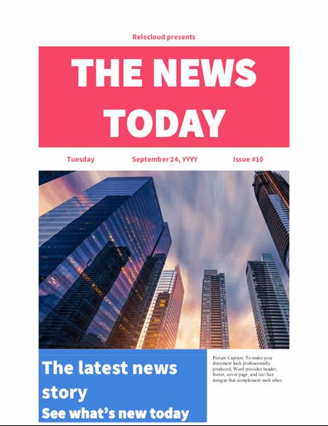 Modern newspaper