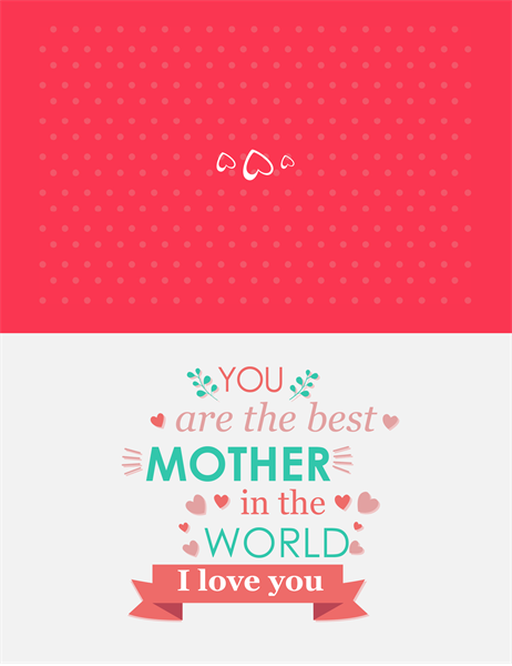 You're The Best Mother's Day card