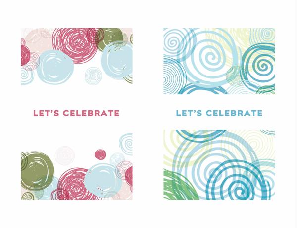 Invitation celebration card