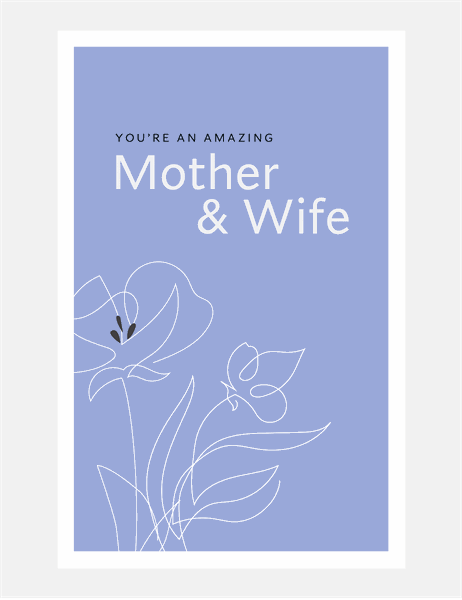 Graceful Mother's Day card