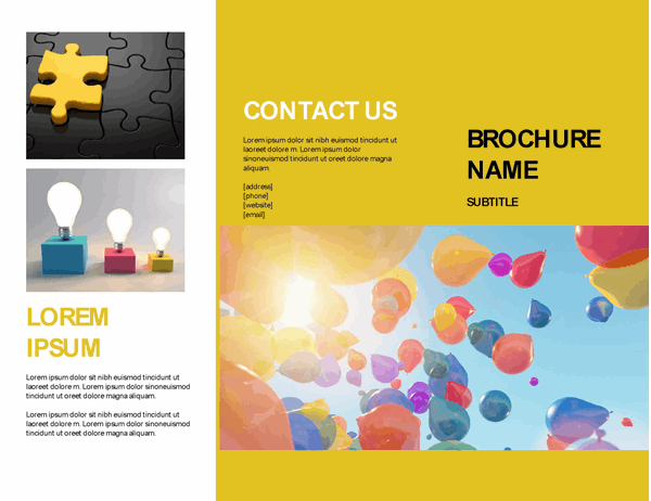 Yellow event brochure