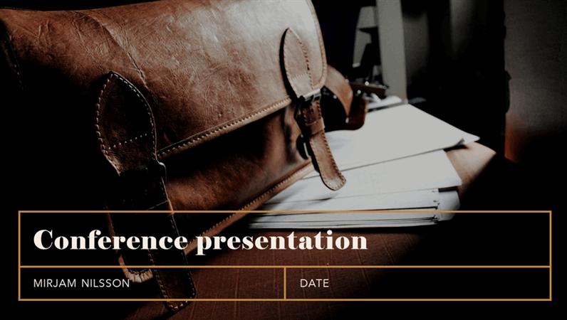 Classic conference presentation